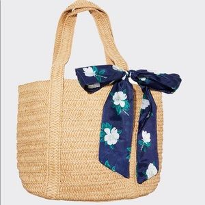 Draper James Straw Bag and Floral Scarf